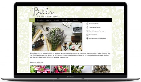 Bella Flowers - ecommerce website by Millionleaves