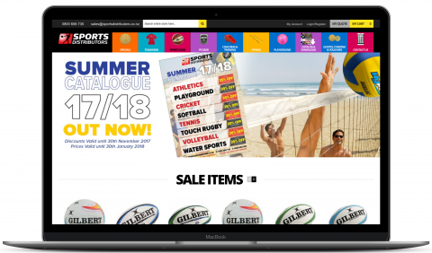 Sports Distributors - ecommerce website by Millionleaves